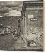 Streets Of Antigua - Guatemala Wood Print