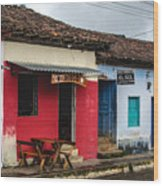 Streets Of Ataco 2 Wood Print