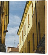 Streets Of Cesena 7 Wood Print