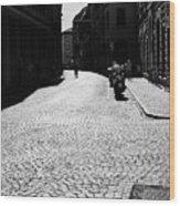 Streets Of Cesena Wood Print