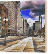 Streets Of Chicago Wood Print