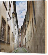 Streets Of France Wood Print
