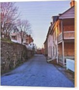 Streets Of Harpers Ferry Wood Print