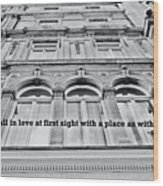 Streets Of London Quote Wood Print