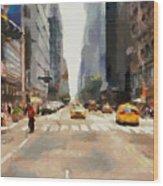 Streets Of New York Wood Print