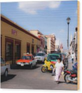 Streets Of Oaxaca Mexico 1 Wood Print