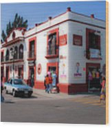 Streets Of Oaxaca Mexico 3 Wood Print
