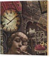Streets Of Paris II Wood Print