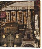 Streets Of Paris Wood Print