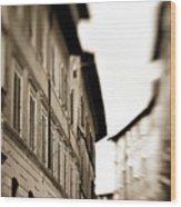 Streets Of Siena 2 Wood Print