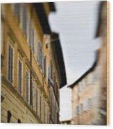Streets Of Siena Wood Print