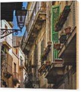 Streets Of Siracusa Wood Print