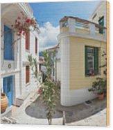 Streets Of Skopelos Wood Print