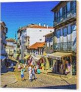 Streets Of Valenca Wood Print