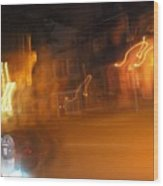 Streets On Fire Wood Print