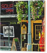 Streetscape 1 Soup Wood Print