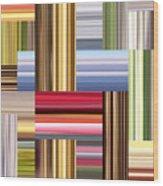 Stretch Of Colors Wood Print
