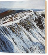 Striding Edge Leading To Helvellin Sumit  Wood Print