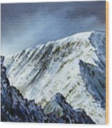 Striding Edge On Helvellin Wood Print