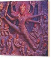 Striding Vishnu Wood Print