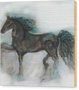 Striking Stallion Wood Print