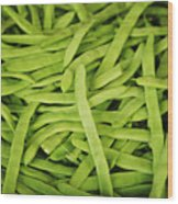 String Bean Heaven Wood Print