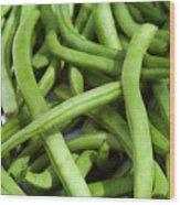String Beans Wood Print