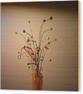 String Bouquet Wood Print
