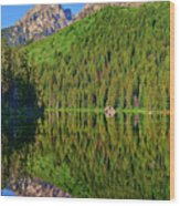 String Lake Morning Mirror Wood Print