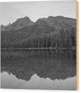 String Lake Reflections Bw Wood Print
