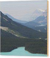 String Of Lakes Wood Print