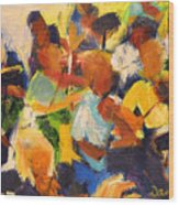 String Section Wood Print