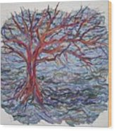 String Tree - Growing By A Thread Wood Print