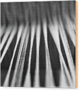Strings In A Loom Wood Print