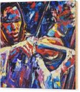 Strings Of Jazz Wood Print