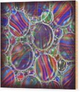Striped Biggons Marbles Wood Print