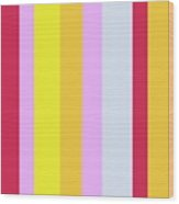Striped Color In Pastels Wood Print