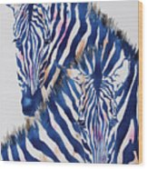 Striped Love Wood Print