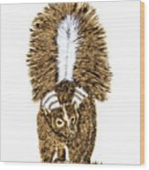 Striped Skunk Wood Print
