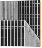 Stripes And Windows Wood Print