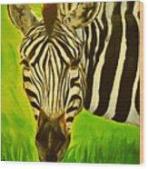 Stripes In Africa Wood Print