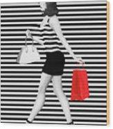 Stripes In Fashion Wood Print
