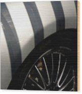 Stripey Wheels Wood Print