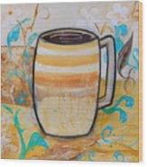 Stripped Mug Wood Print