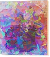 Strips Of Pretty Colors Abstract Wood Print