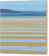 Stripy Shores Wood Print