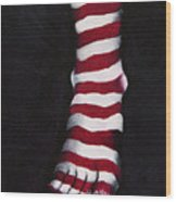 Stripy Steps Wood Print