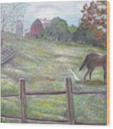 Strobel Farm Wood Print