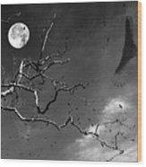 Stroke Of Midnight Wood Print