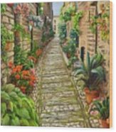 Strolling Spello, Italy Wood Print
